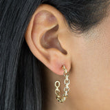 Diamond Chain Hoop Earring 14K - Adina's Jewels