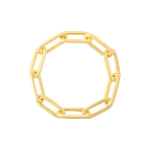 Paperclip Chain Ring Gold / 6 / 10 MM - Adina's Jewels