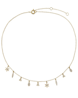 Charm Necklace Gold - Adina's Jewels