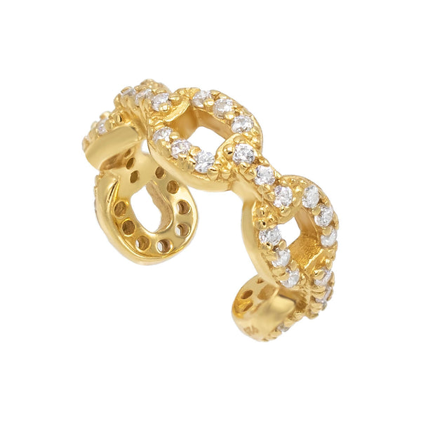 Gold Cuban Chain Ear Cuff - Adina's Jewels