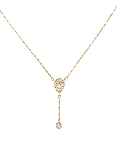 Diamond Teardrop Lariat 14K