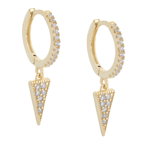 Gold Dagger Huggie Earring - Adina's Jewels