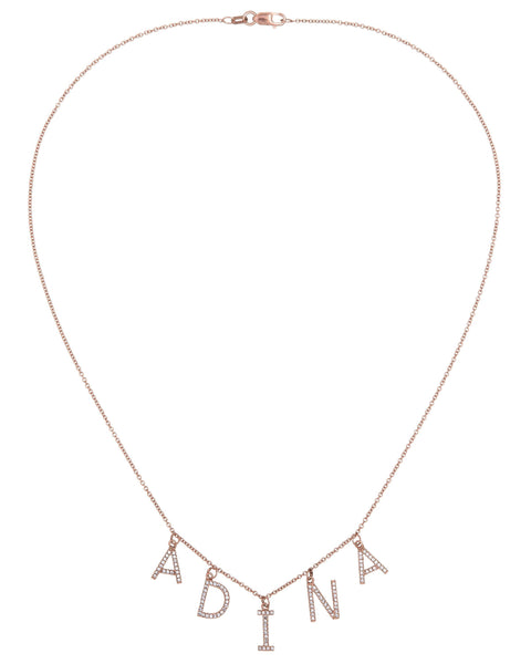 Block Name Necklace 14K - Adina's Jewels