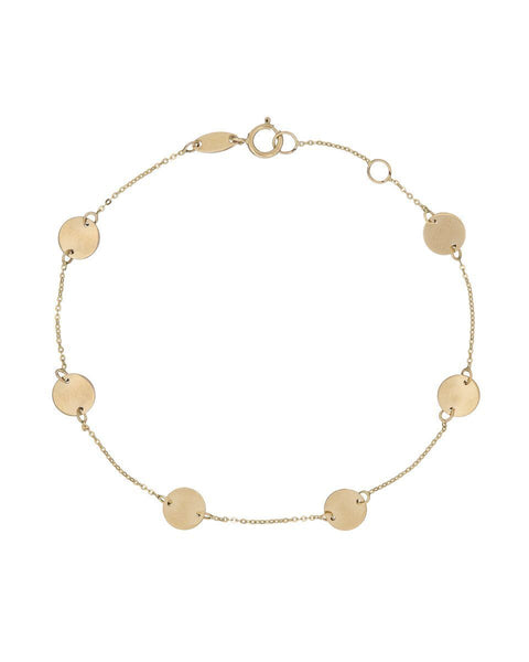 14K Gold Multi-Disc Choker 14K - Adina's Jewels
