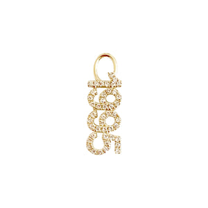 14K Gold / Single Diamond Year Charm 14K - Adina's Jewels