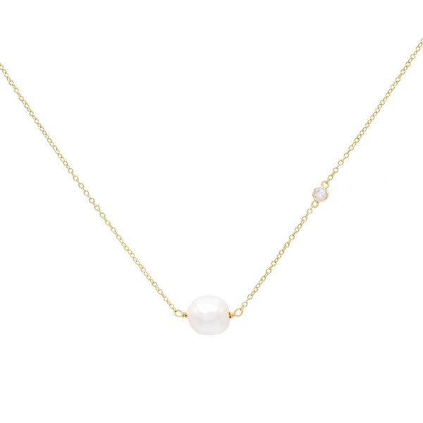 Pearl White Pearl Stone Necklace - Adina's Jewels