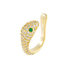Pavé Snake Ear Cuff Gold - Adina's Jewels