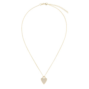 Pavé Heart Charm Necklace - Adina's Jewels