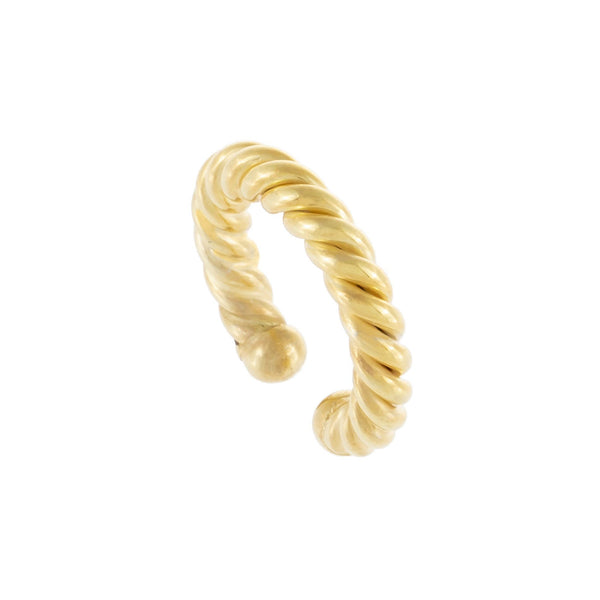 Gold Twist Rope Ear Cuff - Adina's Jewels