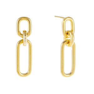 Multi Link Drop Stud Earring Gold - Adina's Jewels