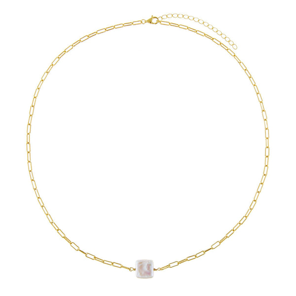Square Pearl Link Choker