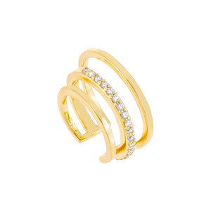Cascading Pavé Ear Cuff Gold - Adina's Jewels