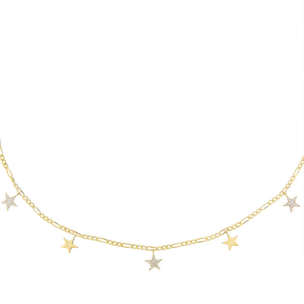 Dangling Stars Figaro Necklace