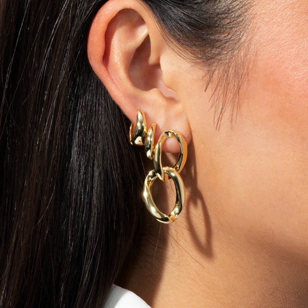 Wide Solid Hoop Earring