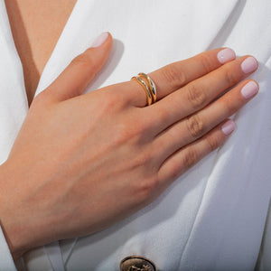 Solid Double Row Ring - Adina's Jewels