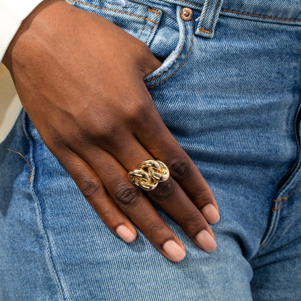 Chunky Chain Ring - Adina's Jewels