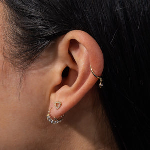 CZ Cartilage Hoop Earring 14K - Adina's Jewels