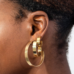 Wide Hoop Earring  - Adina's Jewels