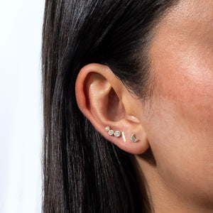 Bar Threaded Stud Earring 14K  - Adina's Jewels