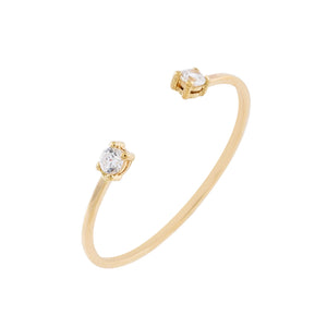 14K Gold Double Solitaire CZ Ring 14K - Adina's Jewels