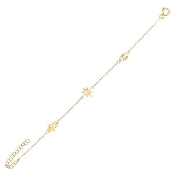 Gold Charms Bracelet - Adina's Jewels