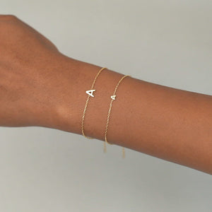 Solid Uppercase Initial Bracelet