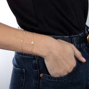 CZ Triple Star Bracelet  - Adina's Jewels
