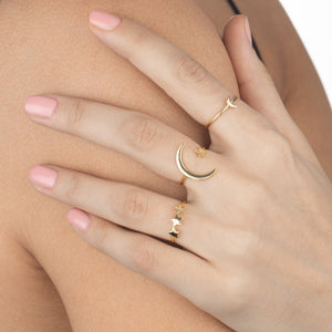 Mini Crescent Ring  - Adina's Jewels