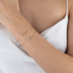 CZ Safety Pin Bracelet  - Adina's Jewels