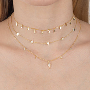 Solid Celestial Charms Choker  - Adina's Jewels