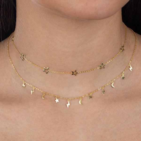 Solid Open Star Choker