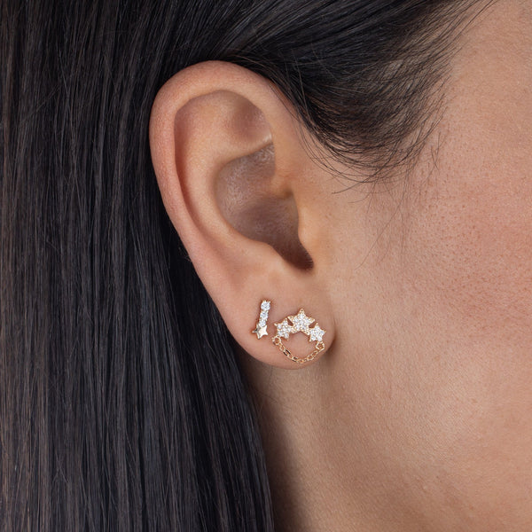 CZ Mini Star Stud Earring
