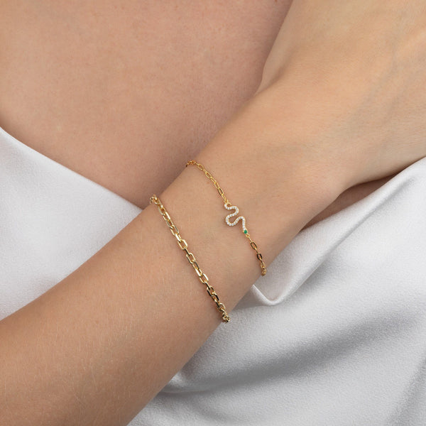 Box Link Bracelet - Adina's Jewels