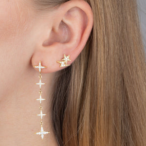 CZ Diamond Shape Drop Stud Earring - Adina's Jewels