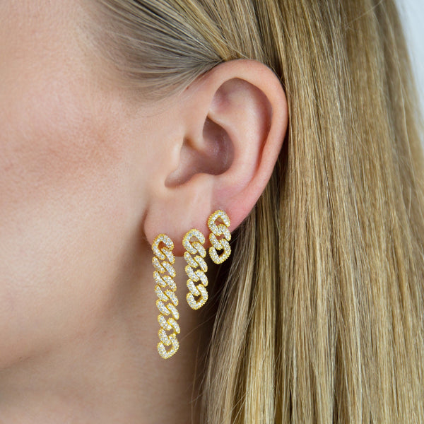 XS Pavé Chain Link Drop Earring