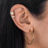 Solid Ear Cuff 14K  - Adina's Jewels