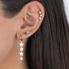 Triple Star Stud Earring 14K  - Adina's Jewels