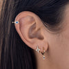 Diamond Evil Eye Ear Cuff 14K - Adina's Jewels