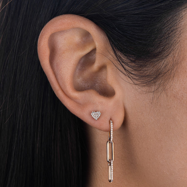Diamond Link Drop Earring 14K  - Adina's Jewels