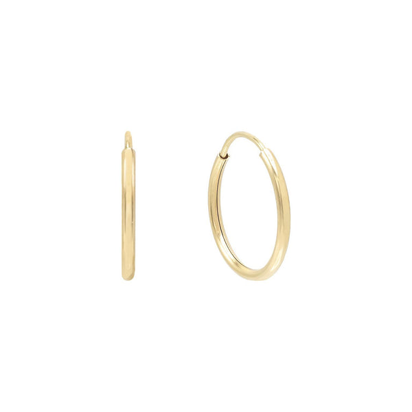 14K Gold / 10 MM Endless Hoop Earring 14K - Adina's Jewels