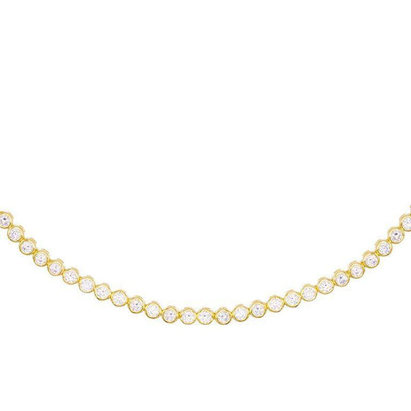 Gold Bezel Tennis Choker - Adina's Jewels