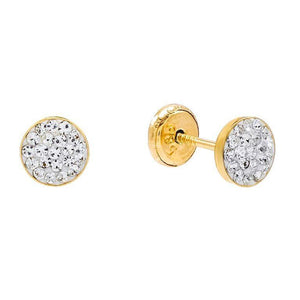 Round Stud Earring 14K 14K Gold - Adina's Jewels