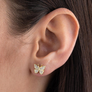 CZ Butterfly Stud Earring  - Adina's Jewels