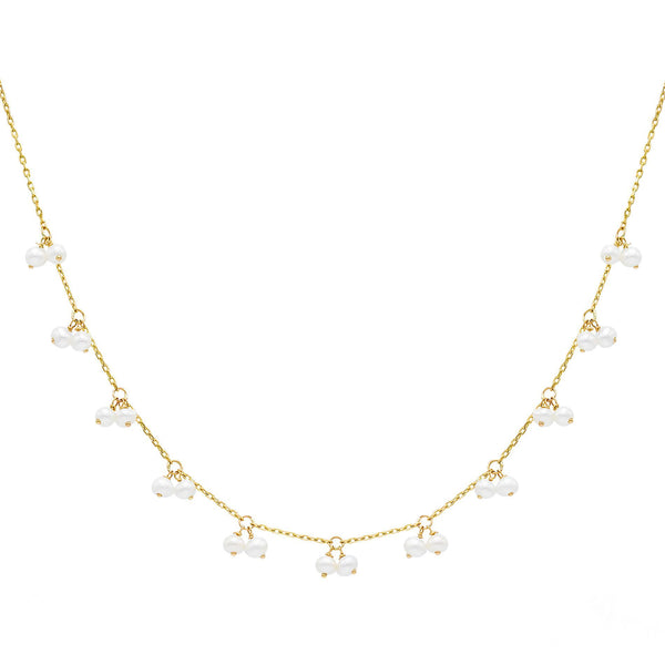 14K Gold Pearl Shaker Necklace 14K - Adina's Jewels
