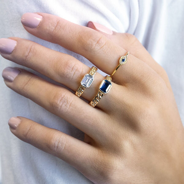 Baguette Links Ring - Adina's Jewels