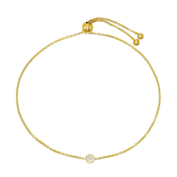 Diamond Adjustable Bracelet 14K