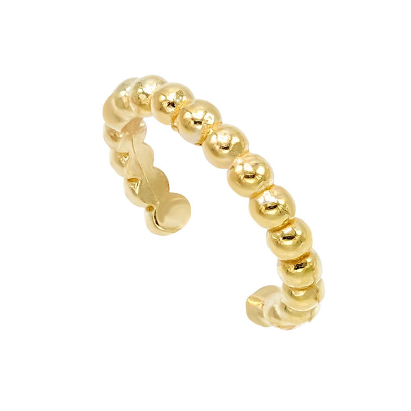 Gold / 15 MM Beaded Ear Cuff - Adina's Jewels