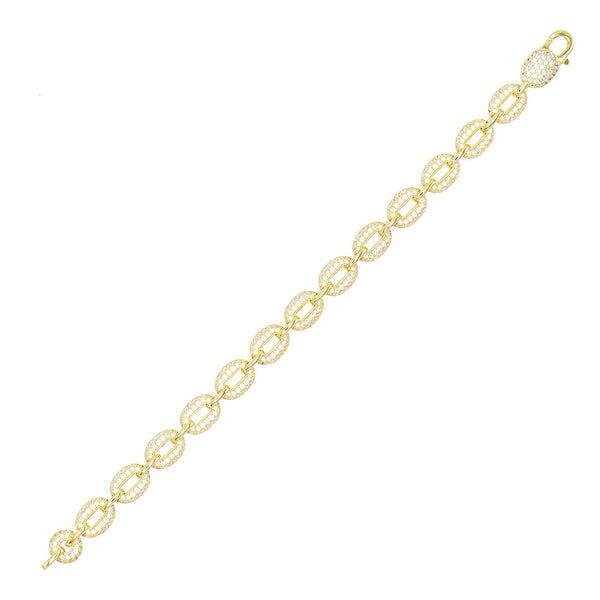 Gold Pavé Chain Bracelet - Adina's Jewels