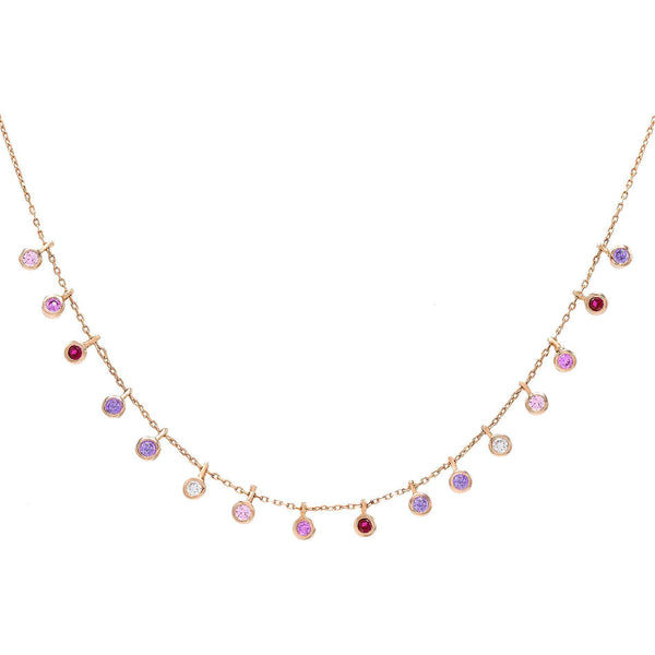 Multi-Color Pastel Bezel Necklace - Adina's Jewels