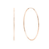 14K Rose Gold / 35 MM Endless Hoop Earring 14K - Adina's Jewels